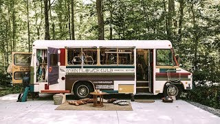 Converted Bus Used As A Traveling Store