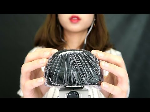 [EngSub][ASMR] New mic test (Zoom H6) | Mic Touching | Brushing | Crinkling sound