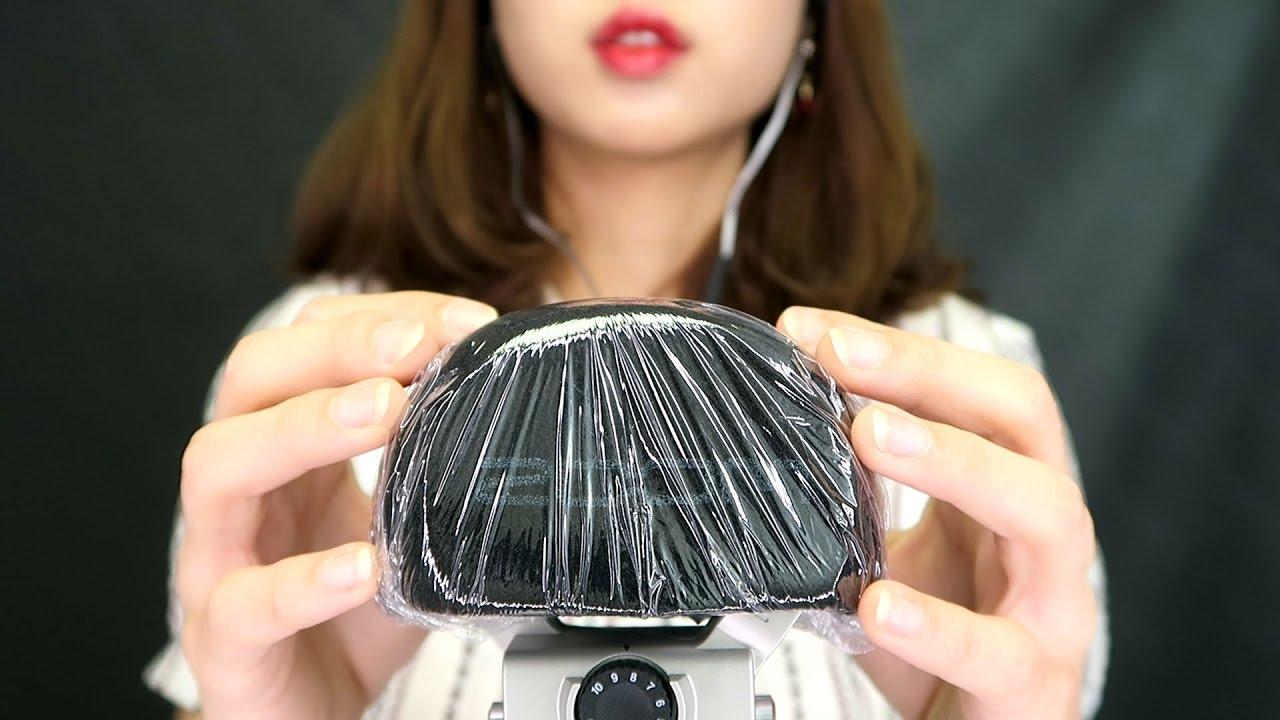 [EngSub][ASMR] New mic test (Zoom H6) | Mic Touching | Brushing | Crinkling sound