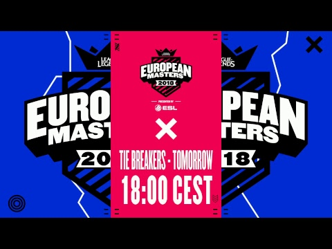 [🔴] European Masters Spring Split Group Stage 2018 - Day 4