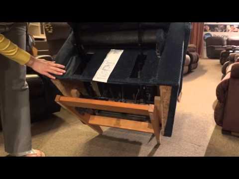 lazy boy reclining sofa warranty dark mahogany table adjust pitch of a recliner by adjusting base settings ...