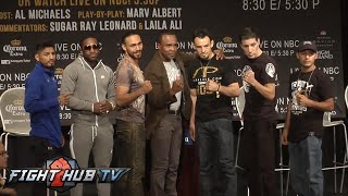 FINAL PRESS CONFERENCE- KEITH THURMAN VS. ROBERT GUERRERO- FULL VIDEO + FACE OFFS