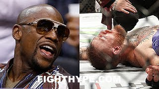 FLOYD MAYWEATHER REACTS TO RUMOR MCGREGOR KO'D IN SPARRING; DOESN'T BELIEVE IT AFTER TALK W/ VARGAS