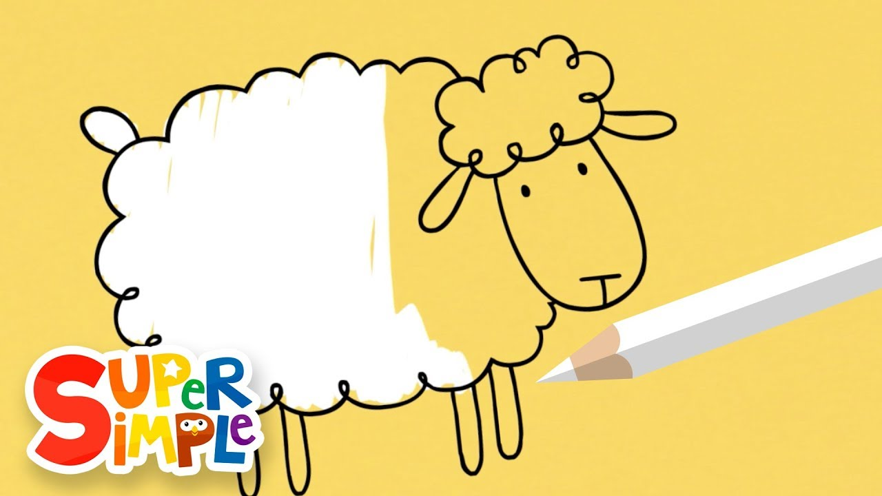 Drawing And Coloring A Sheep | + More Art For Kids | Watch & Learn ...
