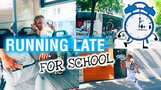 Back To School : RUNNING LATE !!
