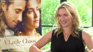 Kate Winslet Talks A LITTLE CHAOS, Managing Pregnancy Nausea and More