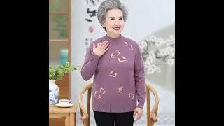 노인 70대 할머니 옷 빅사이즈 스웨터 여성 봄 가을 …