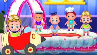 Пять маленьких детей | обучающие видео | анимация | детские мультфильмы | потешки для малышей
