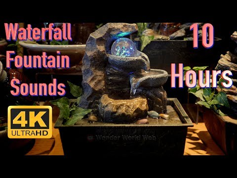 Relaxing Water Fountain Spinning Globe To Sleep To 4K UHD 60fps