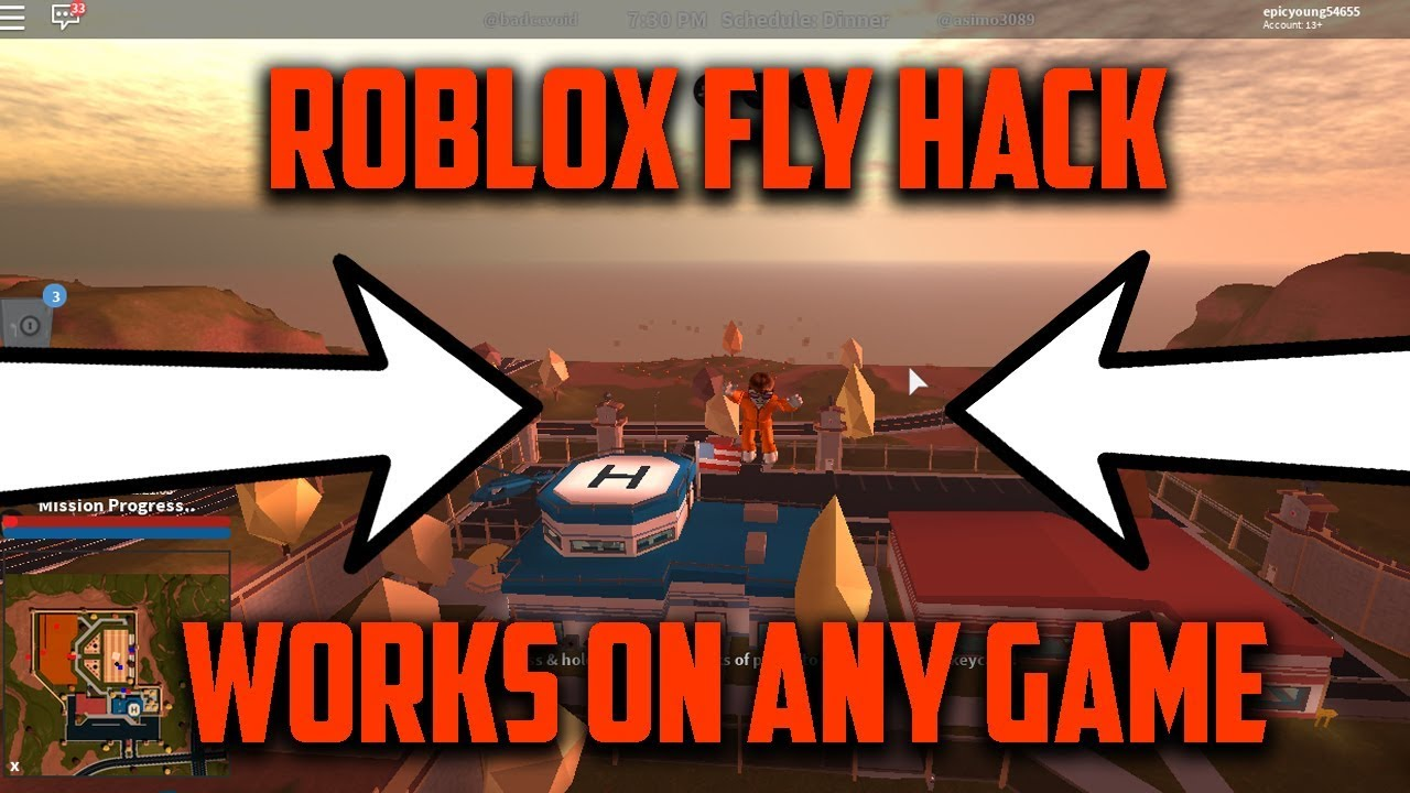 How To Fly Roblox Fly Hack Works On Any Game Youtube