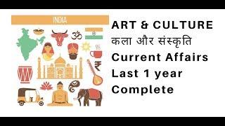 कला और संस्कृति के 1 साल के करंट अफेयर्स Art & Culture Current Affairs of last 1 year