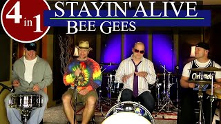 Bee Gees - Stayin' Alive Drum Cover (High Quality Audio) ⚫⚫⚫