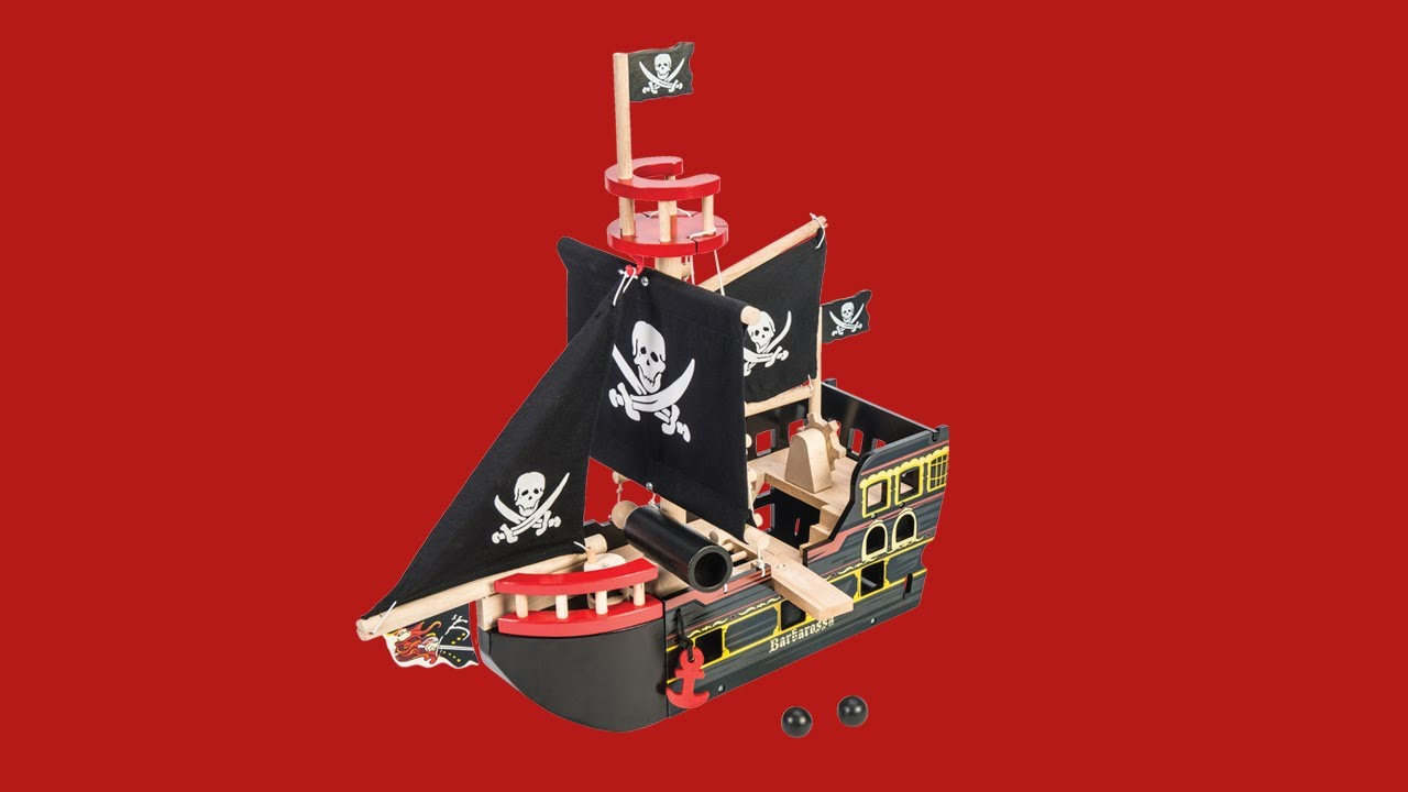 Le Toy Van-Barbarossa bateau pirate