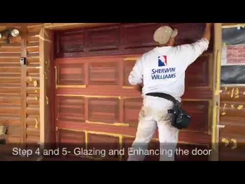 paint faux wood garage door time lapse garage door faux paint wood slc youtube
