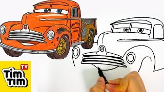 How to draw CARS 3 SMOKEY | Easy step-by-step for kids | Art colors