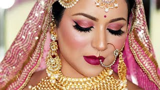 LONG LASTING INDIAN BRIDAL MAKEUP TUTORIAL (SWEAT PROOF/WATER PROOF) | Colourpop One Brand