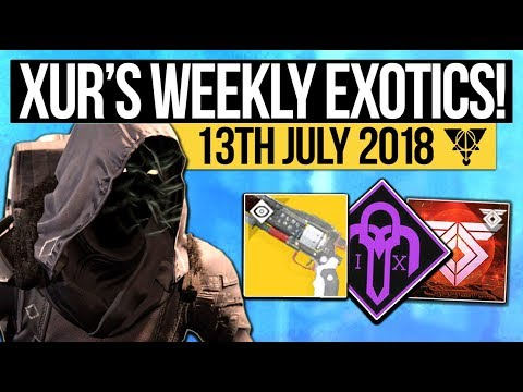 Destiny 2 | XUR LOCATION & DLC EXOTICS! - Exotic Weapon, Armor Inventory & More (13th July)