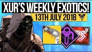 Destiny 2   XUR LOCATION & DLC EXOTICS! - Exotic Weapon, Armor Inventory & More (13th July)