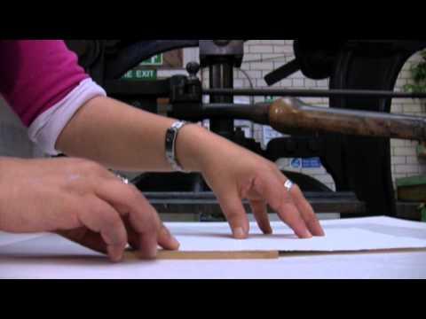 Relief printing at Edinburgh Printmakers