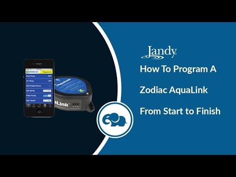 Program a Zodiac Aqualink from Start to Finish