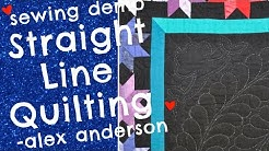 Alex Anderson LIVE: Straight Line Quilting Demo