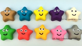 Play Doh Stars with Fish Molds Fun and Creative for Kids Twinkle Twinkle Little Star Nursery Rhymes