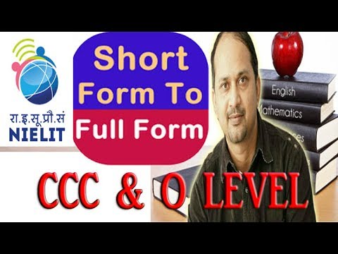 Most Important Full form- CCC & O Level - YouTube