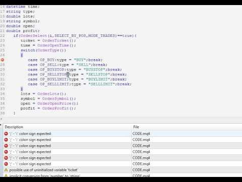 การเขียน EA Mql4 เพื่อแสดงข้อความแบบ Realtime - YouTube