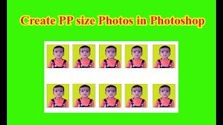 Créer PP taille des Photos dans Photoshop