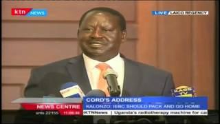 Raila Odinga: President Uhuru delivered a Jubilee propaganda not State of The Tation