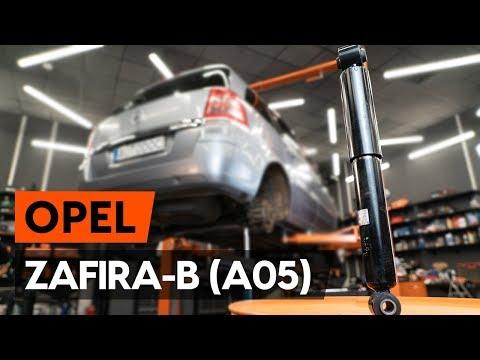 Как заменить амортизаторы задней подвески на OPEL ZAFIRA-B 2 (A05) [ВИДЕОУРОК AUTODOC]