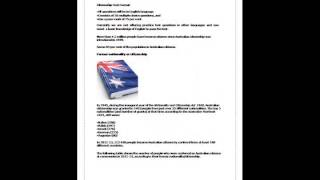 New Australian Citizenship Practice Test Online, Free Citizenship Test