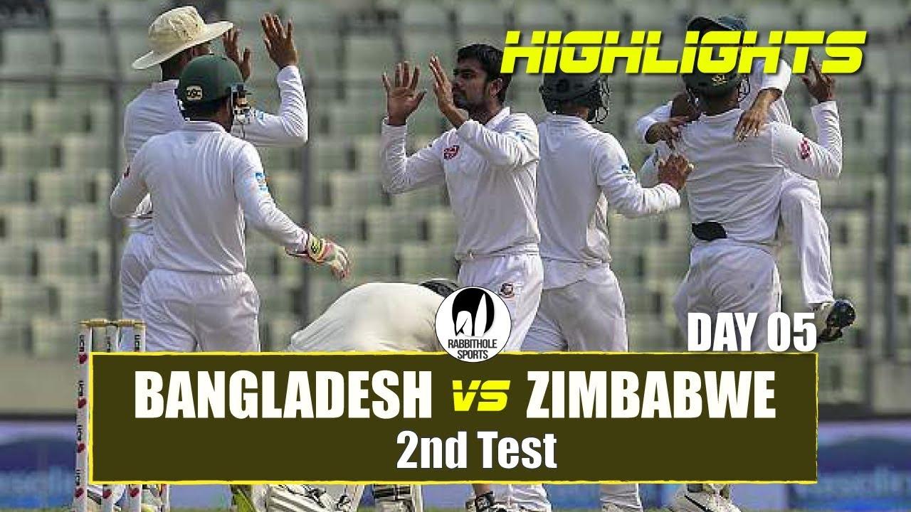 Bangladesh vs Zimbabwe Highlights || 2nd Test || Day 5 || Zimbabwe tour of Bangladesh 2018