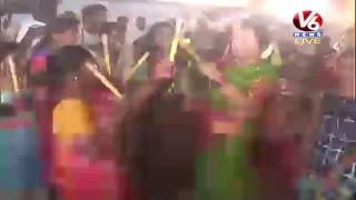 Bathukamma Celebrations At Peddapalli LIVE   V6 News