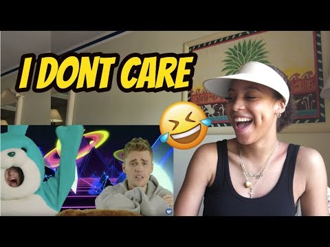 Ed Sheeran & Justin Bieber - I Don't Care [Official Video] REACTION VIDEO