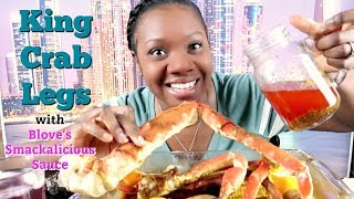 King Crab Legs and Bloves Sauce | The Chomp Queen