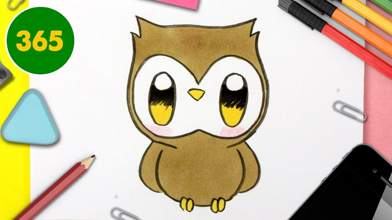 Comment Dessiner Chouette Kawaii Dessins Kawaii Facile Comment
