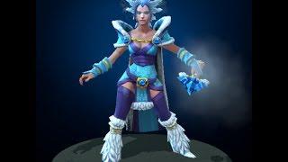DOTA 2 Immortal Items TI4 - Yulsaria's Glacier ( Crystal Maiden's Crown )