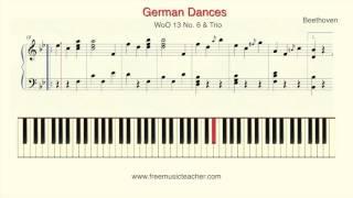 Beethoven German Dances, WoO 13 No  6 & Trio