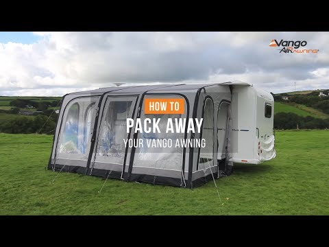 How to Pack Away an Awning - Filmed 2018