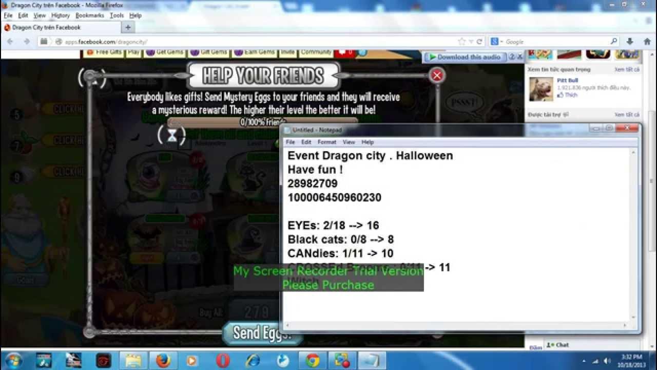 Dragon city HALLO WEEN 2013 ^^ - YouTube