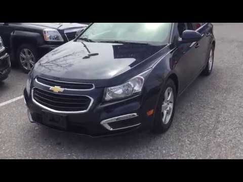 Pre Owned 2015 Chevrolet Cruze LT Sunroof Leather Heated Seats Blue Oshawa ON Stock #B12501