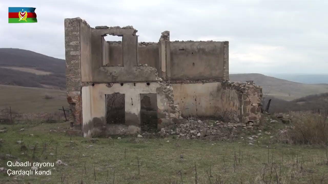 Qubadlı rayonunun Çardaqlı kəndindən videogörüntülər