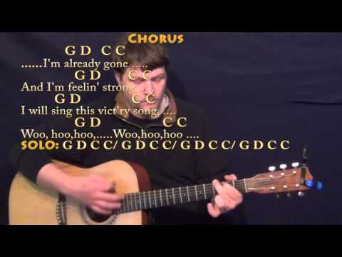 Already Gone (Eagles) Guitar Lesson Chord Chart with On-Screen Lyrics