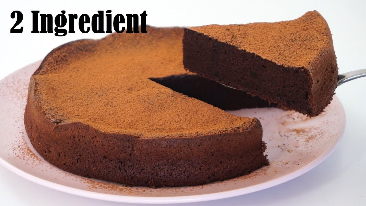 2 Ingredient CHOCOLATE CAKE |No Flour No Butter No Oil