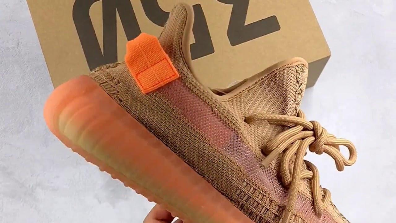 4fee0f6114628 Adidas Yeezy Boost 350 V2 Clay EG7490 - YouTube