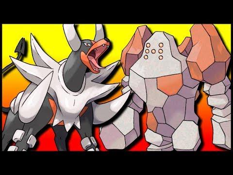 Mega Houndoom & Weakness Policy Regirock [Pokémon Ultra Sun & Ultra Moon]