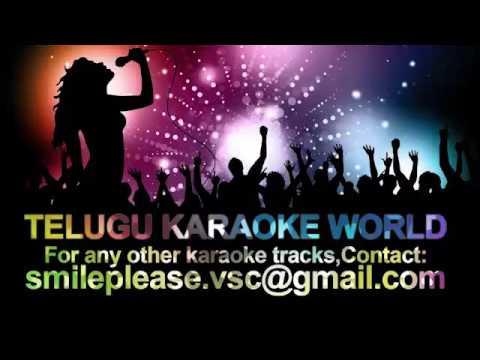 Rave Radha Raani Raave Karaoke    Santhi Nivasam    Telugu Karaoke World   