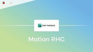 Motion design BNP Paribas