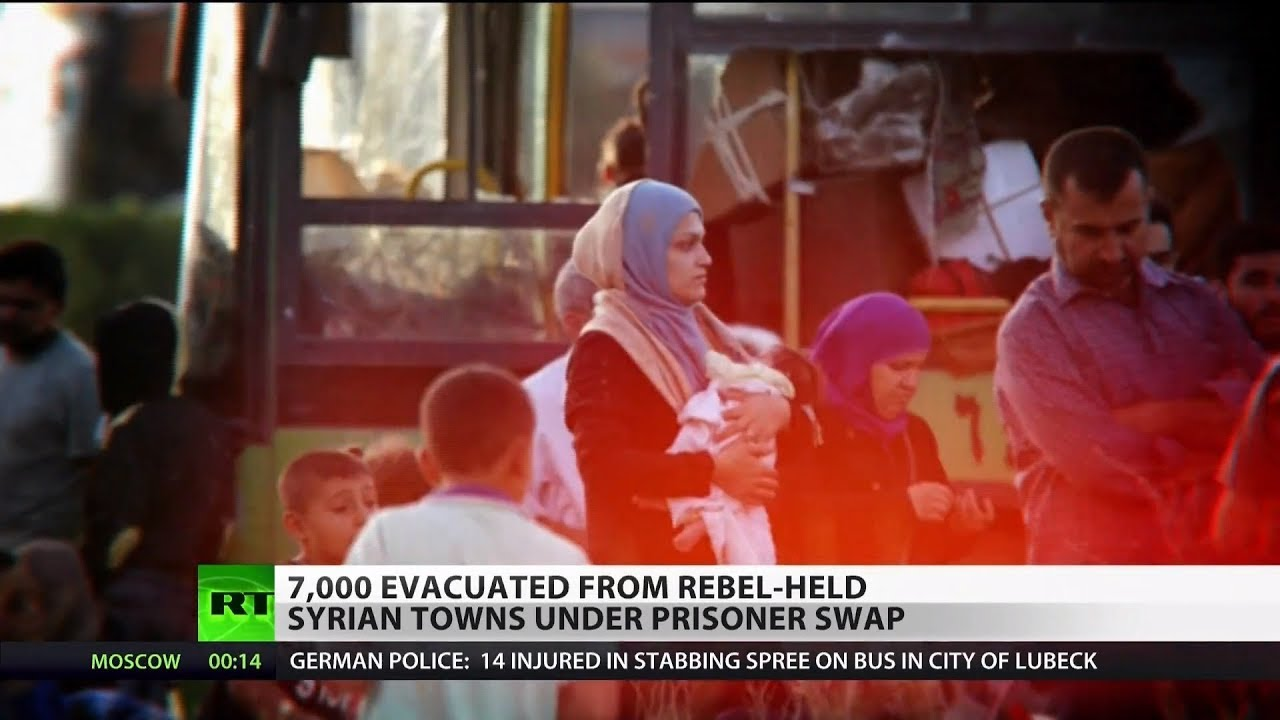 7,000 Evacuated from Rebel-Held Syrian Towns
